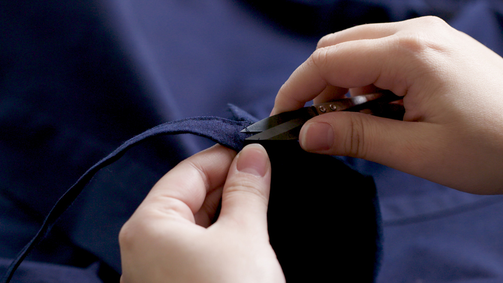 Detailed and careful sewing work